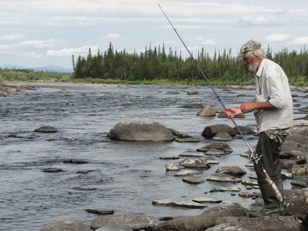 Рыбалка на перекате.
