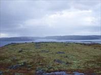36 вид на озеро Эрсманаявр с сопки, около стоянки