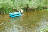 Верх по реке...