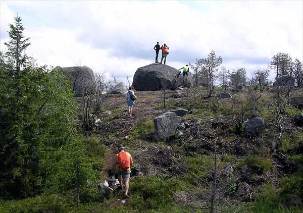 Фото. 75. Поиски вершины горы Воттоваары