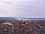 Фото. 15. Мотовский залив с седловины перевала