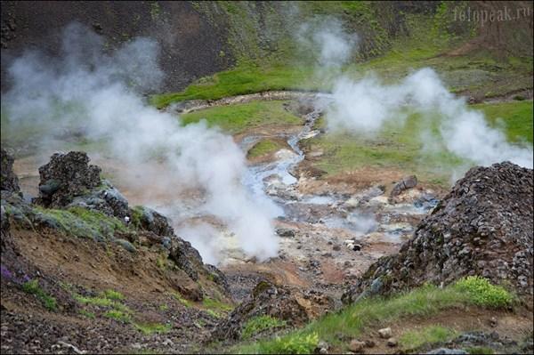 Долина термальных источников в Хверагерди (Hveragerdi)