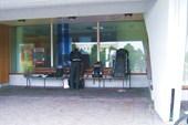 Утренние сборы в 5ч утра на автостанции Рованиеми.