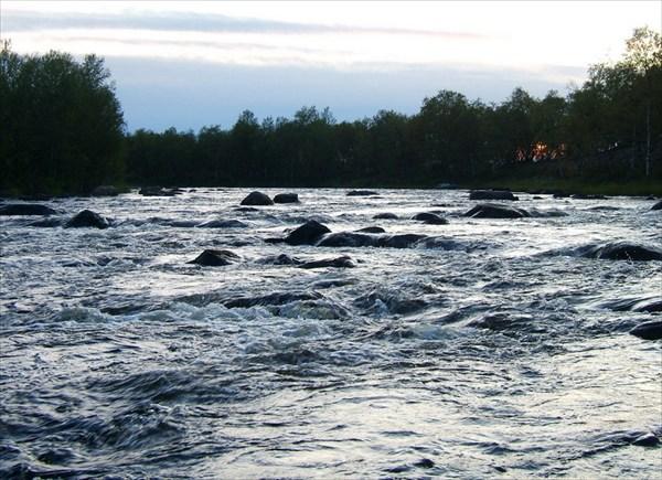 Последний порог на Vaijoki перед впадением в Iijarvi
