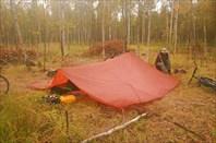 Это наша палатка...типа.