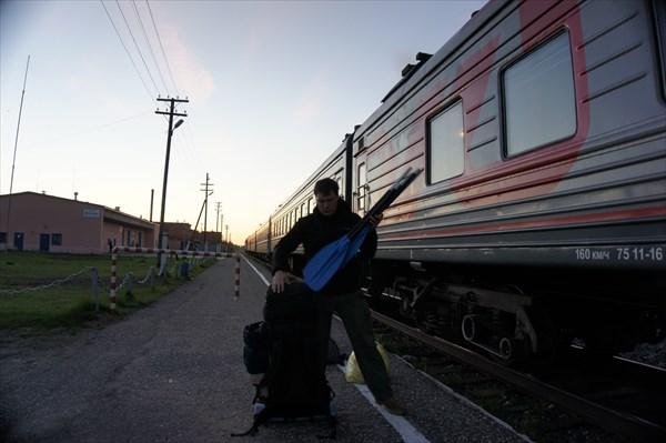 на фото: День 0: станция Кослан, час ночи