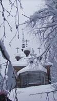 Хижгора.  Деревянная церковь Александра Свирского.
