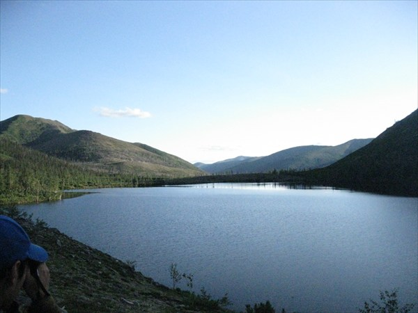 Вид озера(закат)