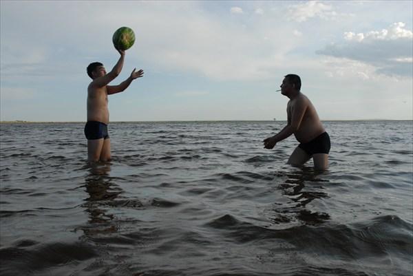 Арбузный волейбол