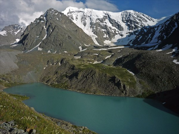 Озеро Зеленое с высокой точки