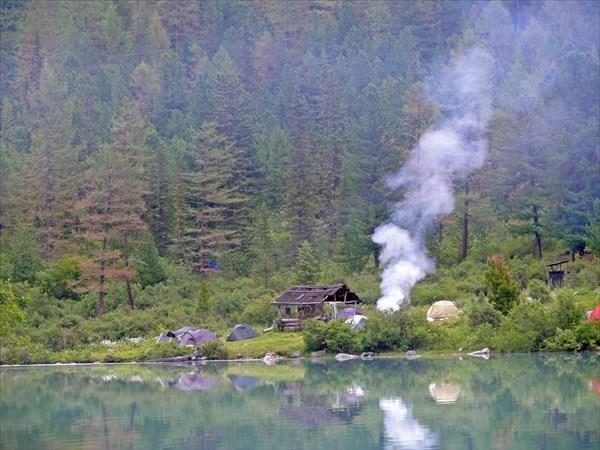 Палаточный лагерь на правом берегу Кучерлинского озера