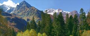 Пейзаж в долине реки Алибек.