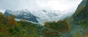 Панорама гор от Турьего озера. Непогода