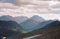 Вид с перевала на гору Черского