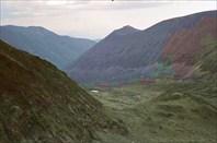 Вид с перевала на реку Горелая