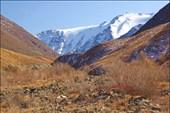 Долина реки Сайлюгем. Вдали вершина Талдуайр. Хребет Чихачева