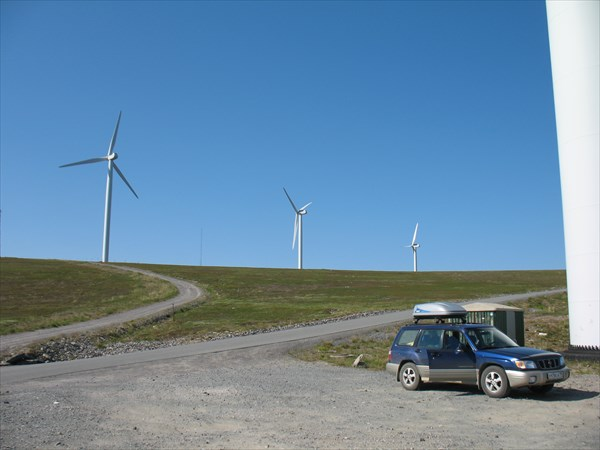 На поле ветряков