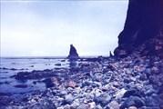 Валунно-глыбовый пляж