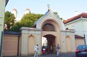 Ворота православной церкви.