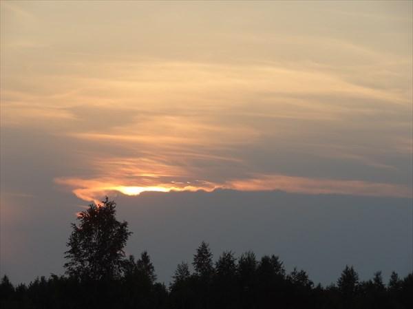 Закат над Тракаем.