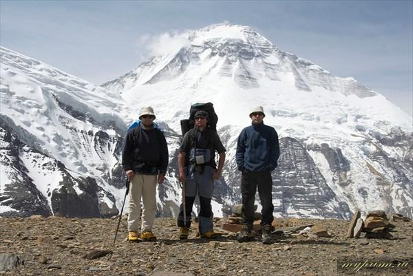 Дима, Валера, Саша на фоне Дхаулагири