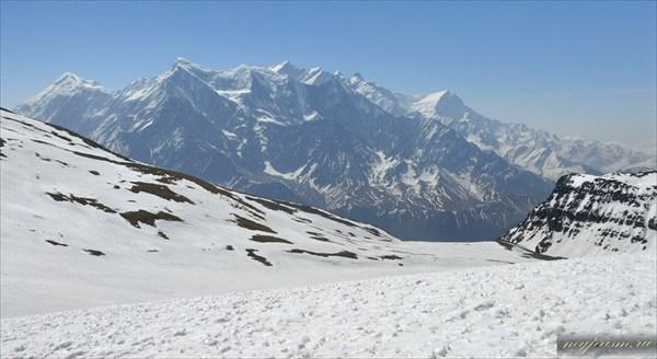 Аннапурна, Нилгири, вид с перевала Thapa pass