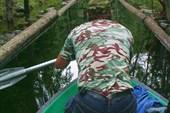 Гребля по каналам, соединяющим озера Соловецкого острова