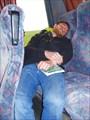 Дима (по дороге в Литву) спит в авт-се))