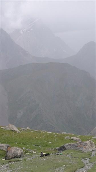Подьём на алаудинский перевал