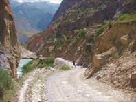 Спуск от альплагеря Алаудин-Вертикаль