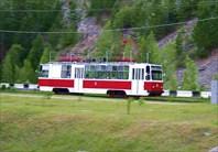 Фото. 78. Трамвай, идущий с СШГЭС в Черемушки