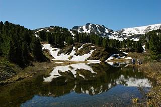 Теректинский хребет. Алтай. Высокогорное озеро.