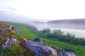 Утренний туман на реке Усе (фото Г. Соловьева)