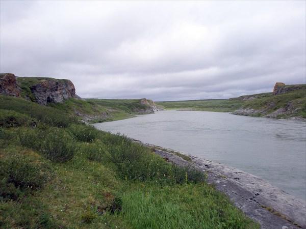 Начало каньонного участка.
