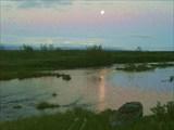 Ночь над тундрой.
