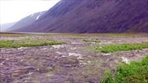 Паводок на ручье после грозы.