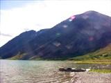 Северная оконечность озера. Устье речки Пырятане.