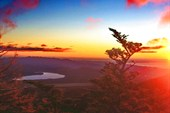 рассвет на высоте 2500 м