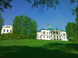 Усадьба Некрасова, нач. 19 в. вид с нижнего парка