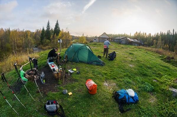 Наш лагерь на кордоне