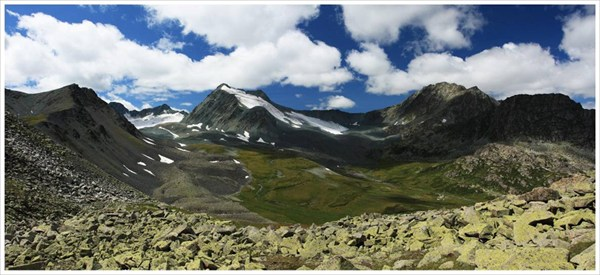 Ледники и перевалы чуть южнее озера