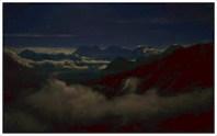 Лунная ночь над Белухой. 1:30 ночи