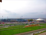 Вид на Центральный стадион (Казань) 1960 и Цирк