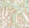 на фото: Общая карта области похода Архыз с тропами