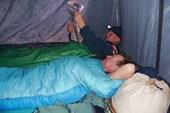 За пологом палатки 0 градусов