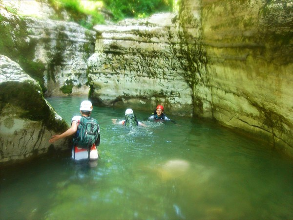 Заплыв в каньоне