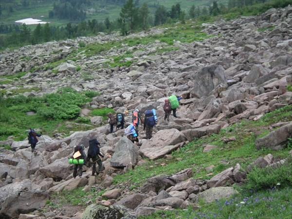 Дорога к озеру Хунузухулух.