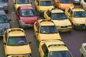 Желтые машины такси в Дамаске