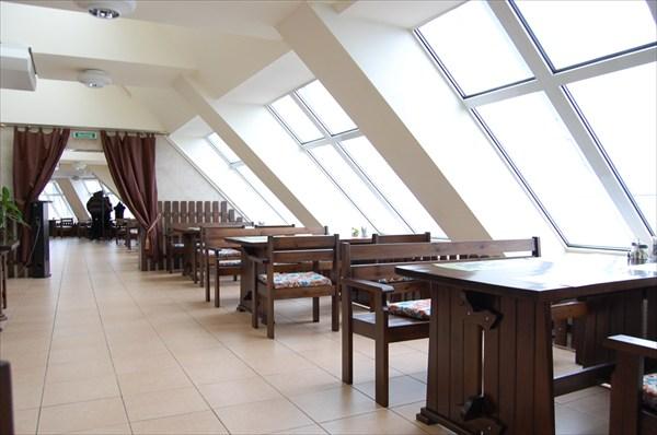 Кафе на верхнем этаже Национальной Библиотеки