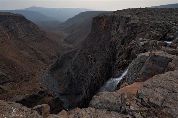 Слив водопада